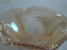 Sweet Vintage Unmarked Marigold Carnival Scalloped Edge Small Footed Dish - $12.61