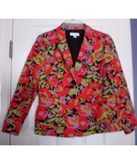 ISSAAC MIZRAHI For Target BLAZER JACKET Floral, Size MEDIUM Red Green Go... - $15.63
