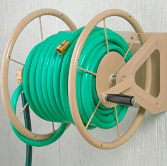 Garden Hose Reel 200 Foot Metal Hose Capac Landscape Lawn Wall Mount Rack New Other Watering