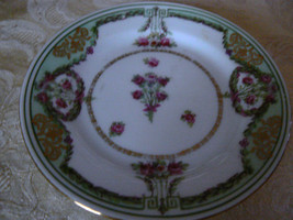 Vintage Imperial China Pink Floral Bouquet Gold Trim Dessert Plate Made ... - $9.89