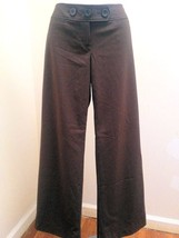 Ann Taylor Loft 0P Julie Pants Brown Stretch Dress Slacks Petite - $19.58