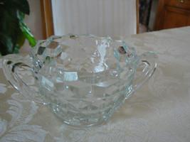 Vintage Fostoria American Pattern #2056 -  Handled Sugar Bowl - $10.93