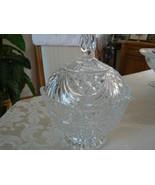 Beautiful Vintage American Brilliant Diamond Pattern Cut Glass Covered D... - $39.59