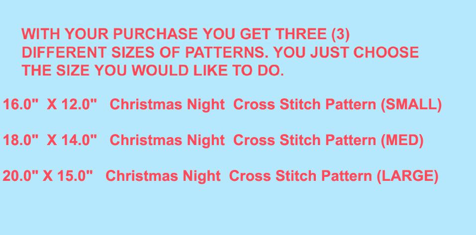 Christmas Night  Cross Stitch Pattern***L@@K***