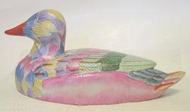 Large Ceramic Sitting Duck Figurine Multicolor - $57.91