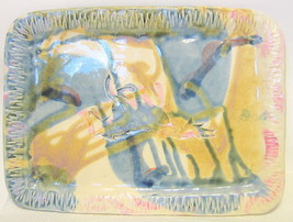 Studio Art Pottery Tray Running Horse Image by Bailey Brown 2002 Canada - $66.82
