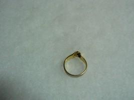 Avon Lovely Vintage Goldtone Raised Clear Rhinestone Ring image 4