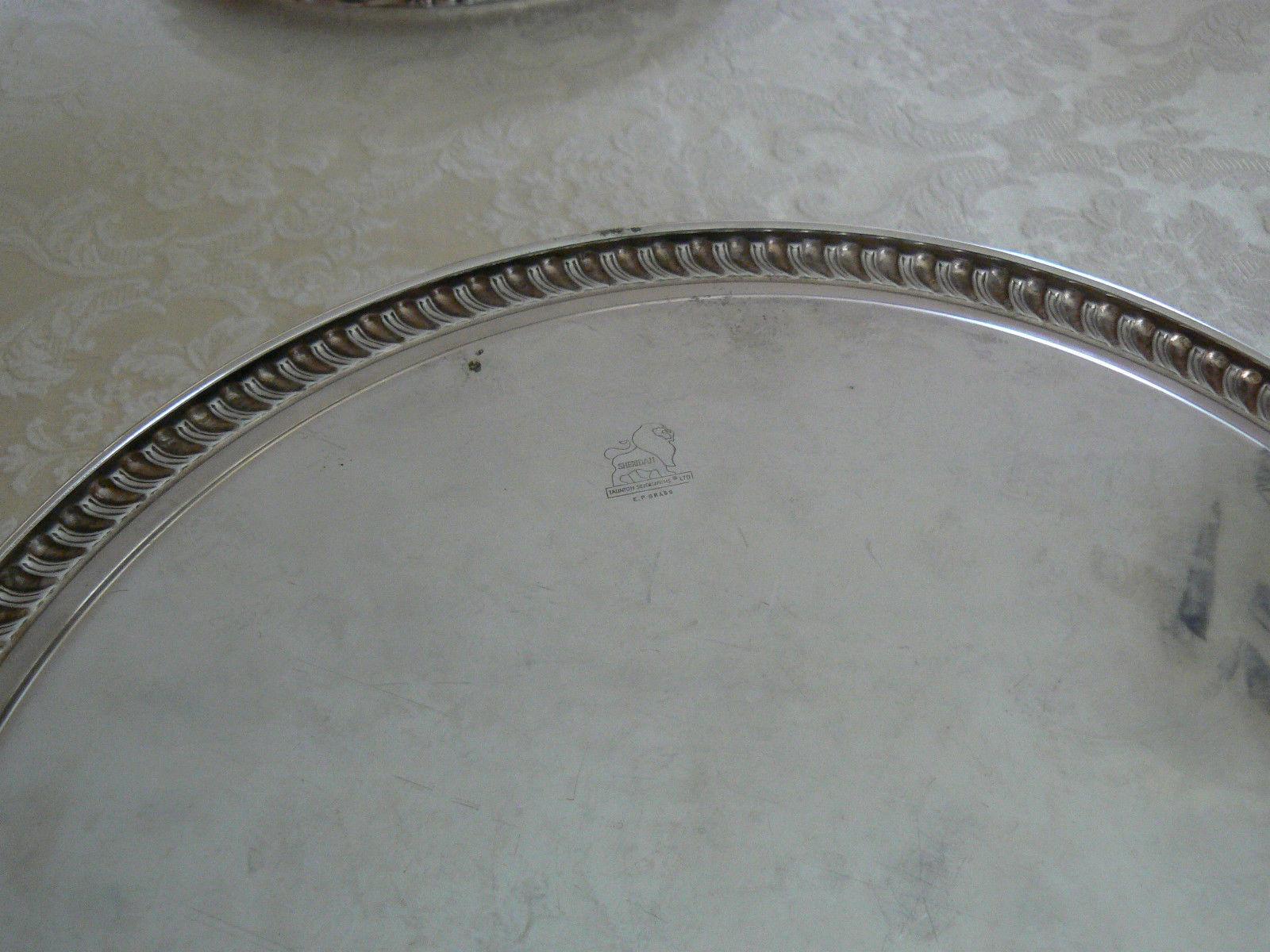Vintage Estate Find Sheridan Silverplate Taunton Silversmiths LTD Serving Tray