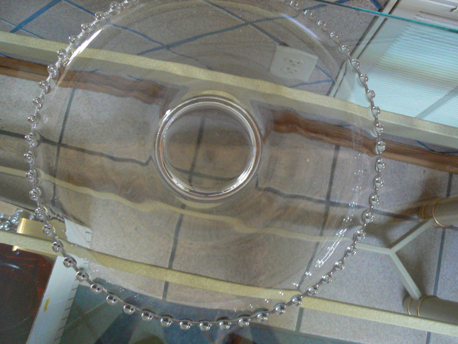 """Vintage Imperial Glass Candlewick 13 """" Round Torte Serving Platter"""