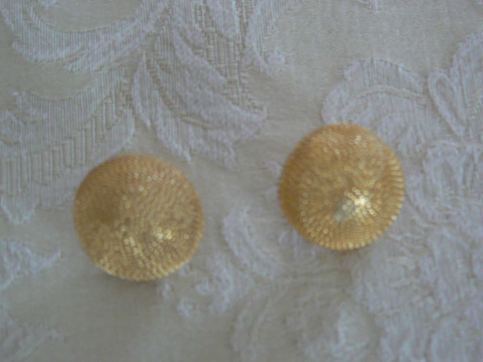 Stunning Vintage Napier Goldtone Large Button Clip On Earrings image 2