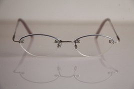 AMARETTA  ARGENTA Eyewear, Chrome Half Rimless Frame,   RX-Able Prescrip... - $24.75