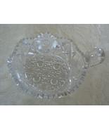 Antique Vintage American Brilliant Period Cut Glass Deep Cut Crystal Nappy - $24.74