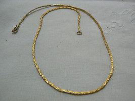 Lovely Vintage Goldtone Small Flat Chain Necklace - $5.88