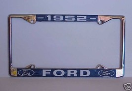 1952 Ford License Plate Frame With Ford Oval Em... - $16.82