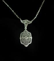 1920s Art deco Necklace Filigree Paste choker Gorgeous detailing Origina... - $175.00