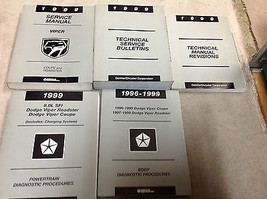 1999 Dodge Viper Coupe Roadster Service Shop Manual SET W DIAGNOSTICS & ... - $128.64