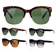 SA106 Unisex Retro Style Thick Metal Half Horn Rim Fashion Sunglasses - $7.95