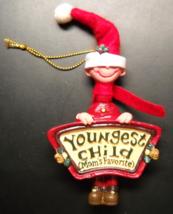 Kurt S Adler Christmas Ornament Mom's Favorites Youngest Child Boy Origi... - $8.99