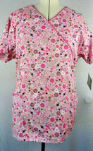 Dickies Womens Print Scrub Top Breast Cancer Awareness Extra Large XL NWT - $19.99