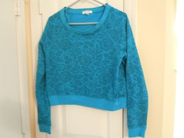 Aeropostale Juniors Size L Turquoise Pullover Top Long Sleeve Excellent ... - $6.92