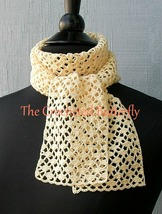 CROCHET PATTERN - French Vanilla Summer Scarf, crochet, women's fashion - $3.99
