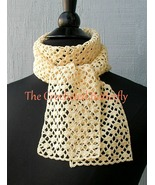 CROCHET PATTERN - French Vanilla Summer Scarf, crochet, women's fashion - $3.99