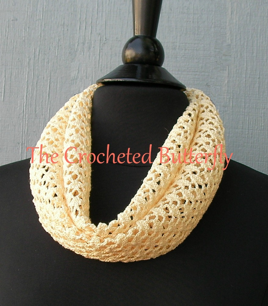 CROCHET PATTERN - French Vanilla Summer Scarf, crochet, women's fashion