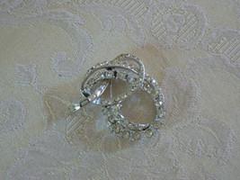 Absolutely Stunning Vintage Coro Silvertone Clear Rhinestone Swirl Brooch - $19.78