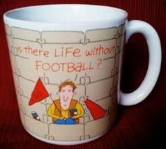 "AMERICAN GREETING MUG- 3.5""H-""IS THERE LIFE W/O FOOTBALL?"" 25209A - $2.97"