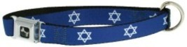 Star of David Blue Logo Holiday Dog Collar 1-in... - $20.99