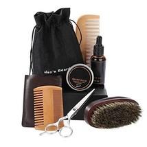 Beard Kit Mens Grooming Kit Styling Scissor + Single Side Comb + Beard Balm + Be