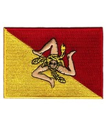 Sicily Italy Flag Embroidered Patch Sicilian Italian Iron-On National Em... - $3.99