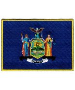 New York State Flag Embroidered Patch Iron-On NY Emblem [Apparel] - $3.99