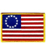 American Flag Embroidered Patch Betsy Ross 13-Stars Iron-On USA United S... - $4.99