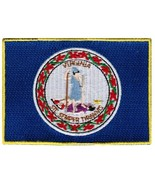 Virginia State Flag Embroidered Patch Iron-On VA Emblem [Apparel] - $3.99