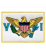 US Virgin Islands Flag Embroidered Patch Iron-On Caribbean National Emblem - $3.99
