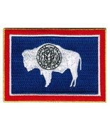 Wyoming State Flag Embroidered Patch Iron-On WY Emblem [Apparel] - $3.99
