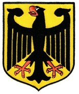 Germany Coat of Arms Patch German Eagle Shield Embroidered Iron-On Aufnher - $5.99