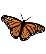 Monarch Butterfly Patch Iron-On Embroidered Colorful Insect Emblem Applique - $5.99