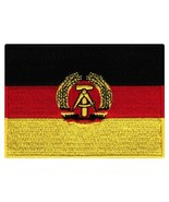 East Germany Flag Embroidered Patch Iron-On German Cold War National Emblem - $3.99