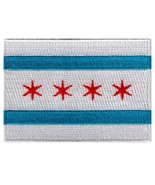 Chicago City Flag Embroidered Patch Iron-On Illinois Emblem [Apparel] - $4.99