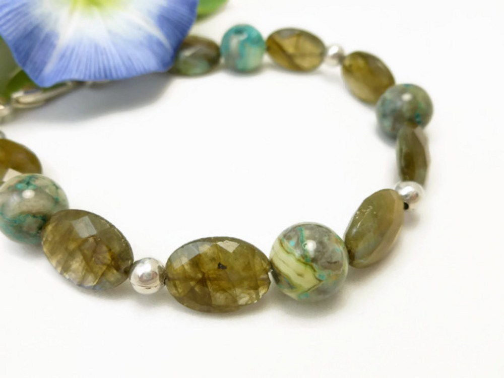 Oval labradorite natural faceted gemstone agate sterling bracelet  5ce739b2 1