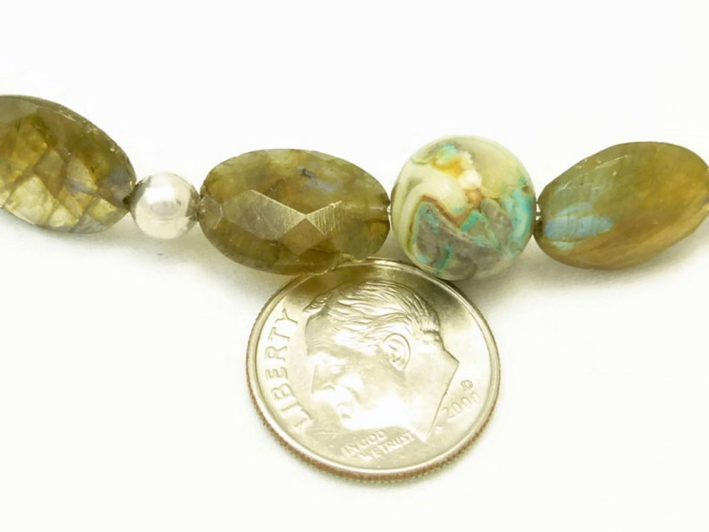Oval labradorite natural faceted gemstone agate sterling bracelet  d59f22ab 1