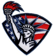 Statue of Liberty Patch Embroidered Iron-On Patriotic American Flag Emblem - $5.50