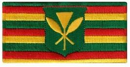 Hawaii Kanaka Maoli State Flag Embroidered Patch Iron-On Kamehameha Hawaiian - $4.99