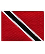 Trinidad and Tobago Flag Embroidered Patch Caribbean Iron-On National Em... - $3.99