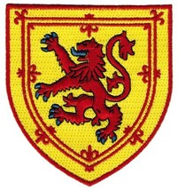 Scotland Coat Arms Patch Lion Rampant Shield Embroidered Iron-On Royal Standard - $5.99