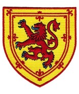 Scotland Coat Arms Patch Lion Rampant Shield Embroidered Iron-On Royal S... - $5.99