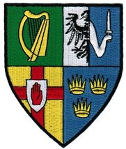 Ireland Provinces Shield Patch Irish Coat of Arms Embroidered Iron-On Flag - $5.99
