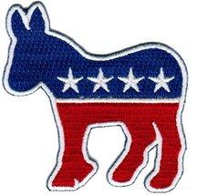 Democratic Party Donkey Logo Embroidered Patch Democrat Political Iron-On Emblem - $4.99